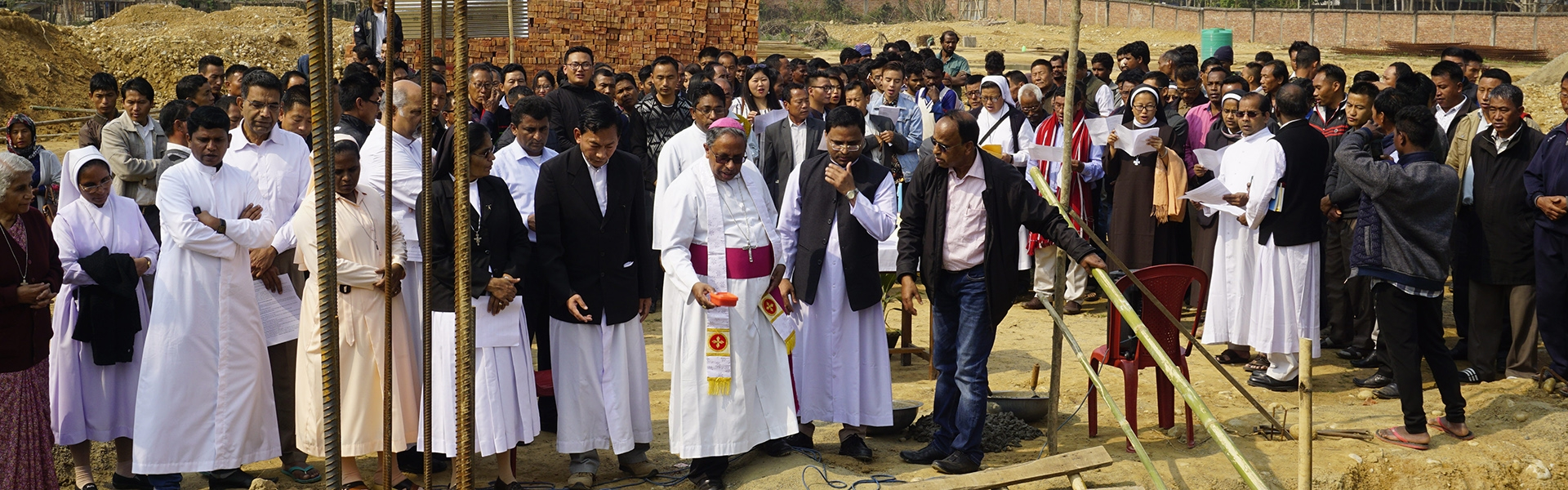 Foundation Stone was laid for the Peace Center in Nagaland