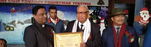 North East India Peace Award conferred to Fr. Dr. C. P. Anto