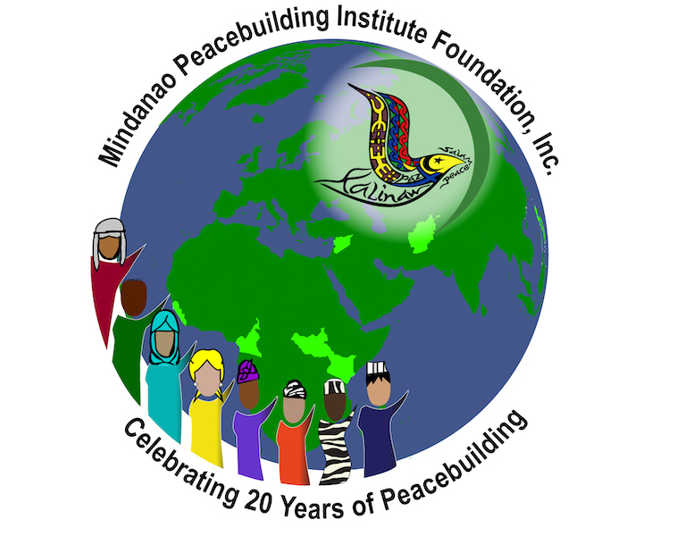 MPI Celebrating 20 Years of Peacebuilding Globe with diverse characters and MPI logo some Africa and Greater Middle East countries highlighted