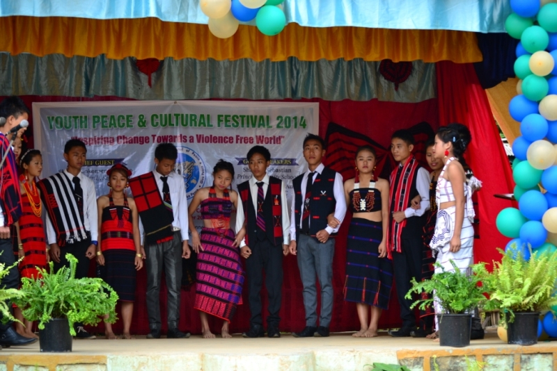 Student cultural performance on stage