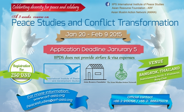 Peace Studies and Conflict Transformation Course Flyer
