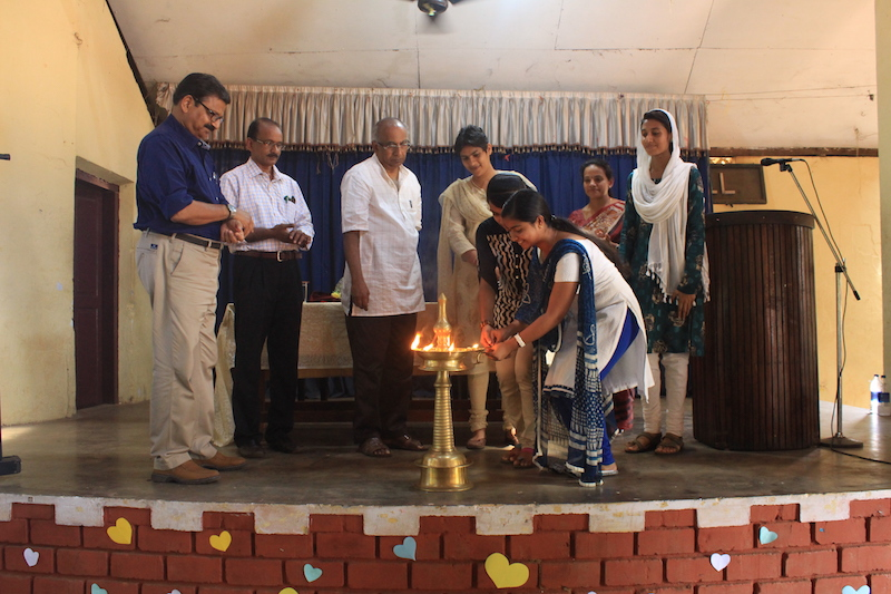 CPSD Inauguration on stage and lighting incense