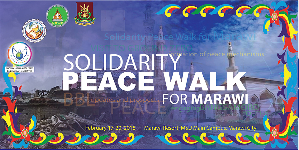 Solidarity Peace Walk Banner