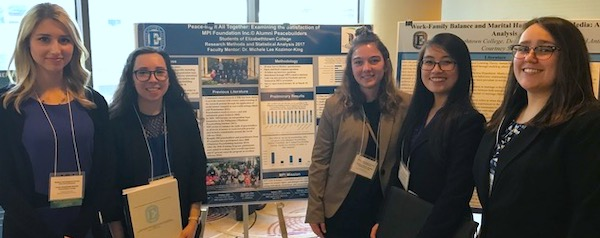 Elizabethtown College Students at Conference Presenting MPI Research