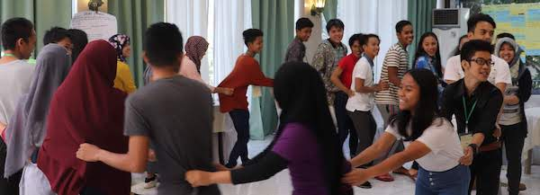 Youth in circle activity