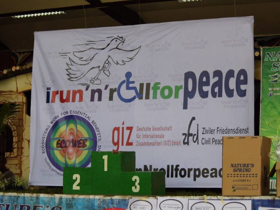 Run and Roll for Peace banner