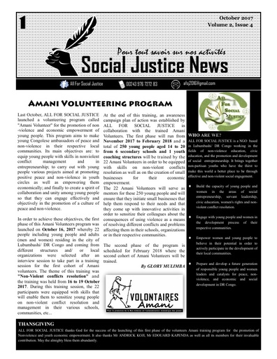 Social Justice News Volume 2, Issue 4 Cover Page